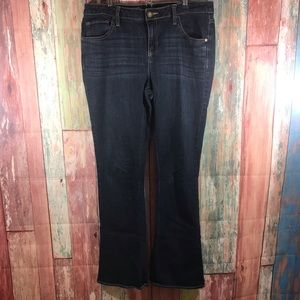 Simply Vera mid-rise bootcut dark wash jeans